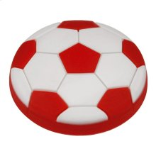 Kids Red Soccer Ball Cabinet Knob