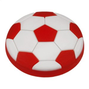 Kids Red Soccer Ball Cabinet Knob Product Image
