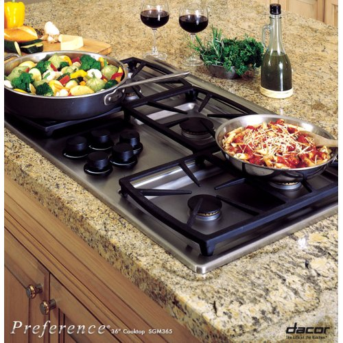 "Preference 36"" Gas Cooktop, High Altitude"