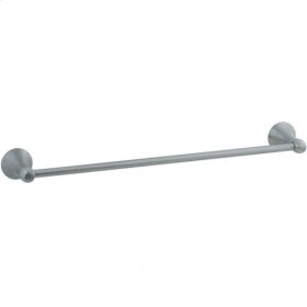 "Brookhaven - Towel Bar With Barrel Posts 30"" - Polished Chrome"