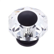Oil Rubbed Bronze 50 mm 8-Sided Crystal Knob