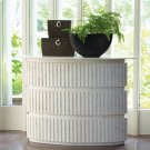 Channel Oval Console-White Marble Product Image
