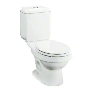 """Rockton™ 12"""" Rough-in Round-Front Toilet with Dual Force® Technology - White Product Image"""