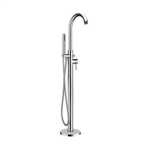 Bathhaus freestanding single-lever tub filler with integrated diverter valve and handheld shower spray. Product Image
