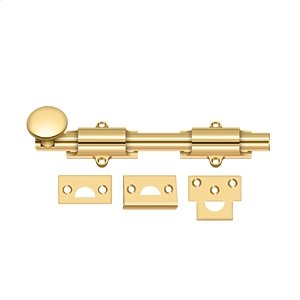 """8"""" Surface Bolt, HD - PVD Polished Brass Product Image"""