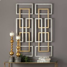 Aerin Metal Wall Panels, S/2