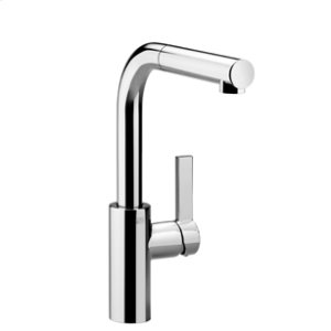 Single-lever mixer with pull-out spout - chrome Product Image