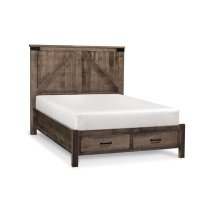 Montauk 2-Panel Bed with Footboard Storage, Montauk 2-Panel Bed with Footboard Storage, California King