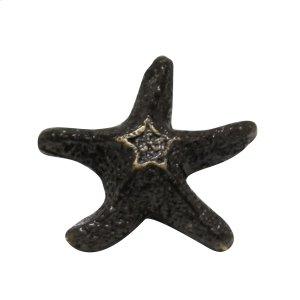 Solid brass starfish-shaped knob. Product Image