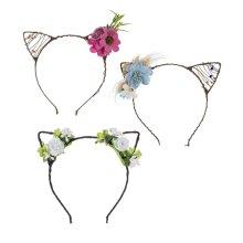 Flower & Pet Ear Headbands (12 set ppk.)