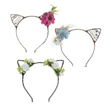 Flower & Pet Ear Headbands (12 set ppk.)