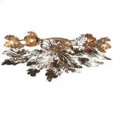 Dancing Leaves Ceiling Fixture-Nickel