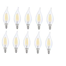 LED E12 CANDELABRA, FLAME TIP, 2700K, 300, CRI80, ES, UL, 6W, 40W EQUIVALENT, 15000HRS, LM480, DIMMABLE, 2 YEARS WARRANTY, INPUT VOLTAGE 120V