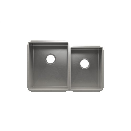 "J7® 003988 - undermount stainless steel Kitchen sink , 15"" × 18"" × 10""  12"" × 16"" × 8"""