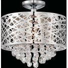 Semi-flush Mount, Chrome/crystals, Type Jcd/g9 50wx4 Product Image