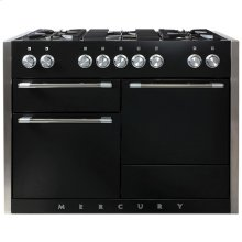 AGA Mercury 48 Dual Fuel Matte Black with Chrome trim