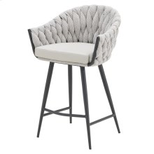Fabian KD Fabric/ PU Counter Stool, Alpine Light Gray/ Fairfax Gray