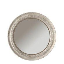Aberdeen Round Mirror Weathered Worn White finish