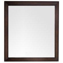 """Bristol 44"""" Rectangular Mirror, Burnished Mahogany"""
