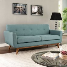 Engage Upholstered Fabric Loveseat in Laguna