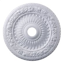 Floral Wreath Medallion 24 Inch in White Finish