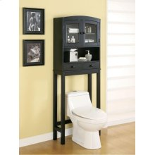 "BATHROOM RACK,BLACK 25""X9-1/2""X69""H"