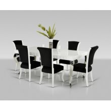 Versus Mia & Seema - Modern White & Black Dining Set