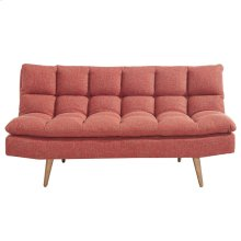 Ethan Convertible Sofa in Red