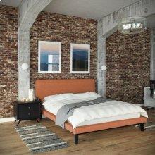 Bethany 2 Piece Queen Bedroom Set in Black Orange