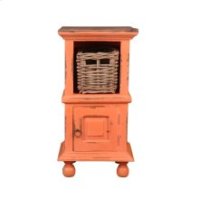 CC-TAB016TLD-CRRW-B  Cottage End Table with Basket