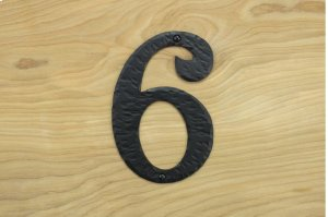 "6 Black 6"" Mailbox House Number 450150 Product Image"