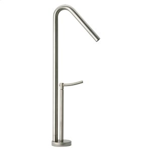 Metrohaus single-hole elevated faucet with 45-degree swivel spout and lever handle. Product Image