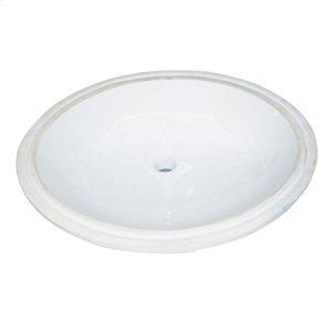 Oval - White Ceramic Undermount Sink Product Image