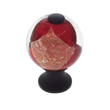 Oil Rubbed Bronze 30 mm Red Knob