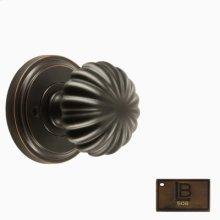 Rosette Privacy Set, Brushed Antique Brass - California