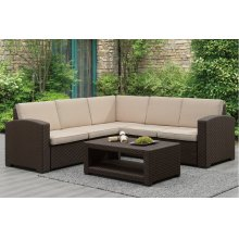 6 Piece Outdoor Sectional Set