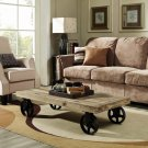 Garrison Wood Top Coffee Table in Brown Product Image