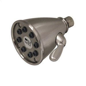 Showerhaus round showerhead with eight easy-to-clean spray jets. Solid brass construction with adjustable ball joint. Product Image