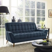 Response Upholstered Fabric Loveseat in Azure