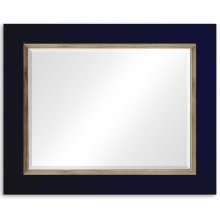 "British Navy & Gold ""Homespun"" Mirror"