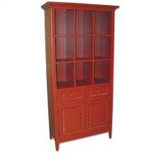 Display & Storage Cabinet - Red