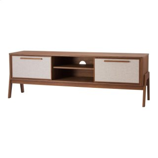 """Heaton 60"""" KD Low TV Stand, Walnut (ASSEMBLY REQUIRED)"""