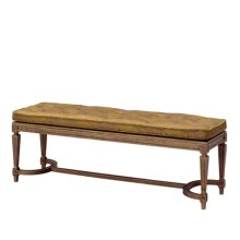 Grant II Benche - Caned & Cushion Seat