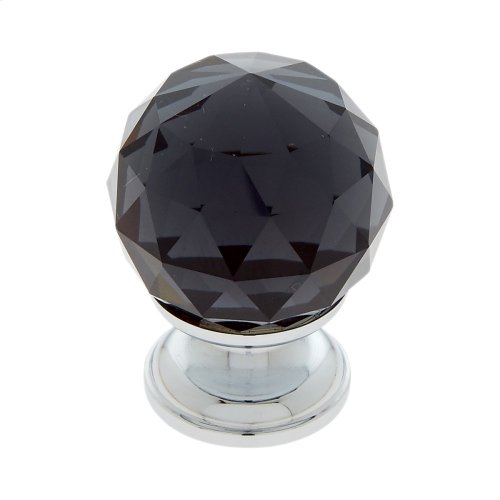 Polished Chrome 30 mm Round Faceted Knob