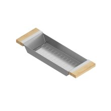 Colander 205318 - Stainless steel sink accessory , Maple