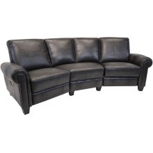 Power Reclining Sectional in Lincoln-Coffee