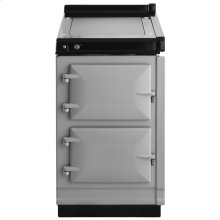 """AGA Hotcupboard 20"""" Electric Pearl Ashes with Stainless Steel trim"""