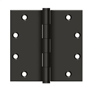 """5"""" x 5"""" Square Hinges - Oil-rubbed Bronze Product Image"""