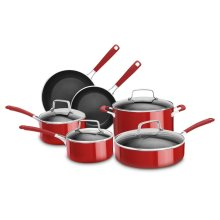10 Piece Aluminum Nonstick Set - Empire Red