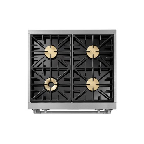 "30"" Heritage Dual Fuel Epicure Range, Silver Stainless Steel, Liquid Propane/High Altitude"